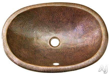 "Houzer The Hammerwerks Collection HWELI2ES 20"" Top Mount Single Bowl Elipse Lavatory Sink with Self, U.S. & Canada HWELI2ES"