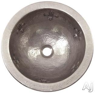 "Houzer The Hammerwerks Collection HWFAM2RF 15"" Undermount Single Bowl Fleur-Di-Lis Lavatory Sink, U.S. & Canada HWFAM2RF"