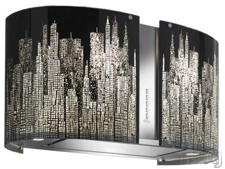 Futuro Futuro Murano New York Collection ISMURNEWYORK Island Mount Chimney Range Hood with 940 CFM, U.S. & Canada ISMURNEWYORK