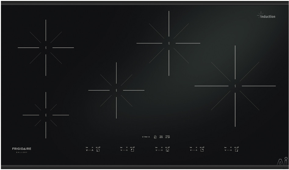 "Frigidaire Gallery Series FGIC3667MB 36"" Induction Cooktop with 5 Heating Elements, 10"", 3,400 Watts, U.S. & Canada FGIC3667MB"