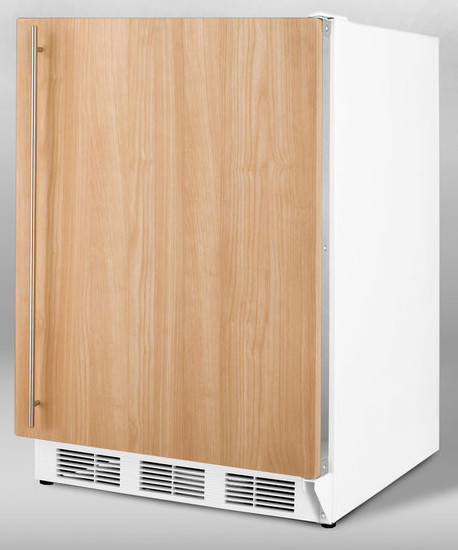 Summit ALFB621IF 24 Inch Undercounter Freezer with 3 Removable Storage Baskets Manual Defrost  25C Capable and ADA Compliant Integrated Frame Requires Panel Handle