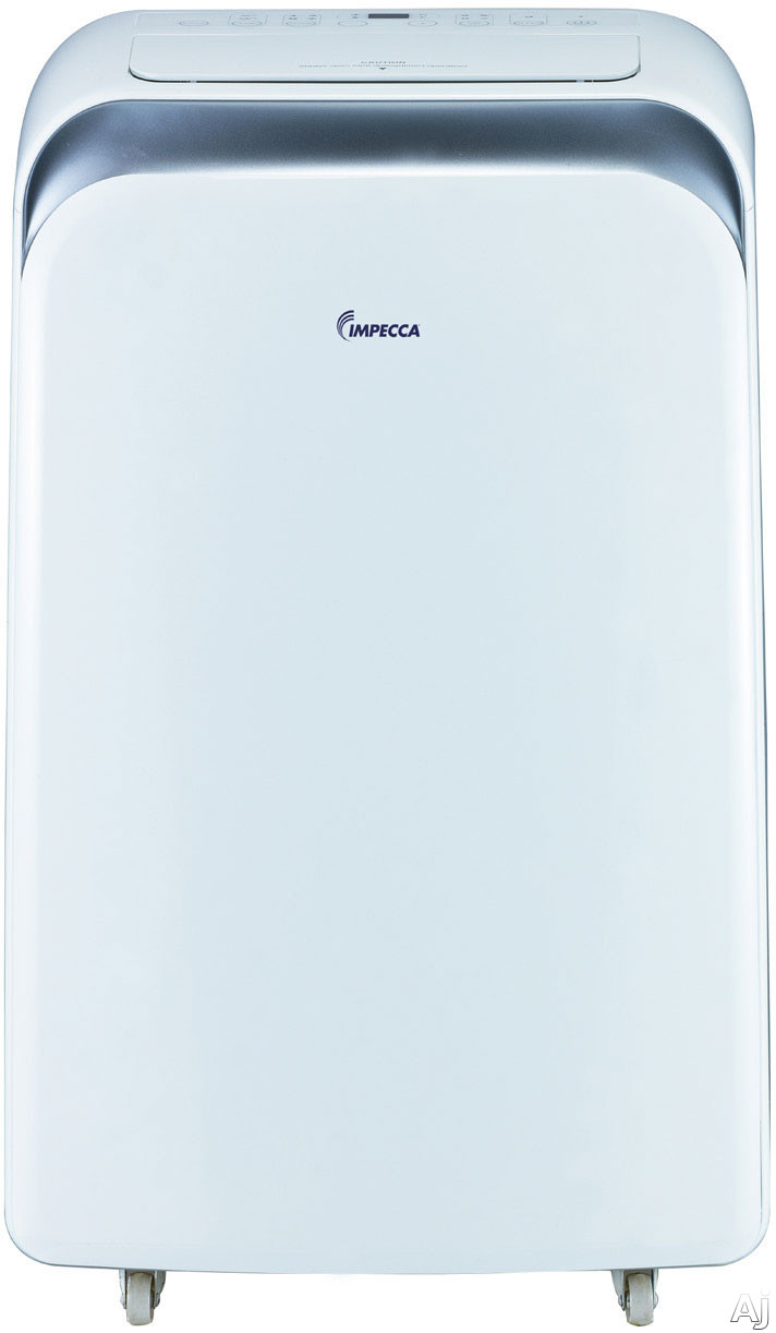 Impecca IPAH14KS 14,000 BTU Portable Air Conditioner with 11,000 BTU Heat Pump, 8.9 EER, R-410A Refrigerant, 700 sq. ft. Cooling Area, Remote Control and No Wat