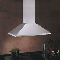 "Best IS23SS 36"" Island Chimney Hood with 500 CFM Internal Blower, 3-Speed Pushbutton Control, Dual, U.S. & Canada IS23SS"