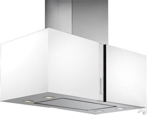 Futuro Futuro Murano Snow Collection IS34MURSNOWLED Island Mount Chimney Range Hood with 940 CFM, U.S. & Canada IS34MURSNOWLED