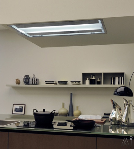 Futuro Futuro Skylight Series IS38SKYLIGHT 38 Inch Ceiling/Soffit Mount Range Hood with 940 CFM Whisper-Quiet Internal Blowers, Eco-Friendly Fluorescent Lighting, Delayed Shut-Off Feature and Wireless Remote Control Included
