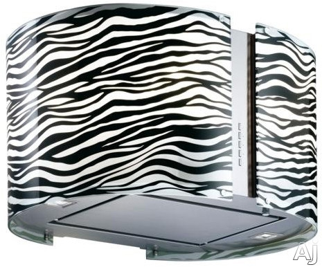 Futuro Futuro Murano Zebra Collection IS34MURZEBRALED Island Mount Range Hood with 940 CFM Internal Blower, 4-Speed Whisper-Quiet Fan, LED Lights, Body Illumination Dimmer and Convertible to Non-Ducted Operation: 34-Inch Width