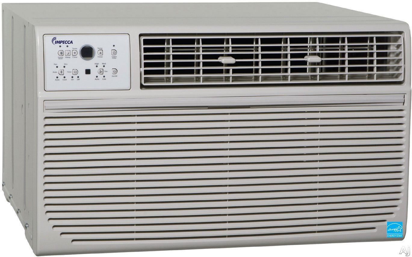 Impecca ITAC12KS 12,000 BTU Thru-the-Wall Air Conditioner with 9.4 EER, R-410A Refrigerant, 550 sq., U.S. & Canada ITAC12KS
