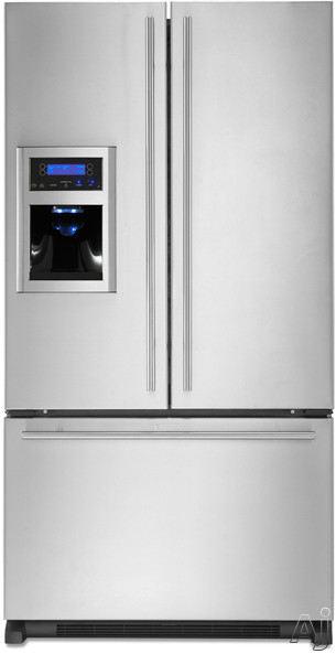 Jenn Air - Jenn-Air Euro-Style Series JFI2589AES 24.9 Cu Ft French Door Refrigerator With 4 Glass Shelves Gallon Door Storage SmoothClose Drawer Track System External