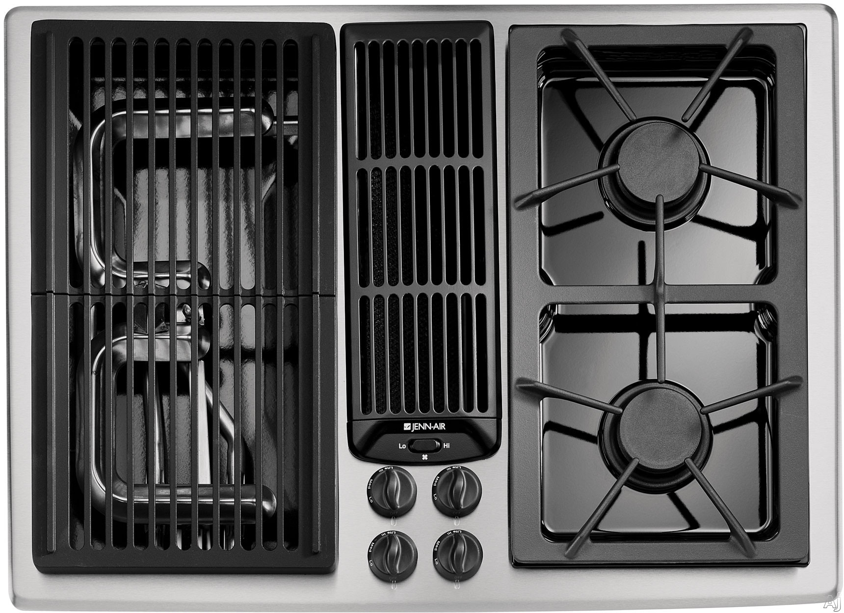 30 Gas Cooktops With Griddle http://www.electronics-and-appliances.com/appliances/jenn_air/jenn_air_cooktop.htm
