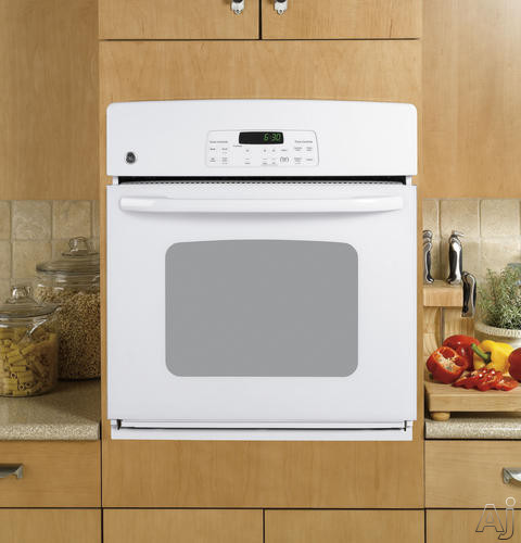 "GE JKP30DPWW 27"" Single Electric Wall Oven with 3.8 cu. ft. Self-Clean Oven, TrueTemp System, Hidden, U.S. & Canada JKP30DPWW"