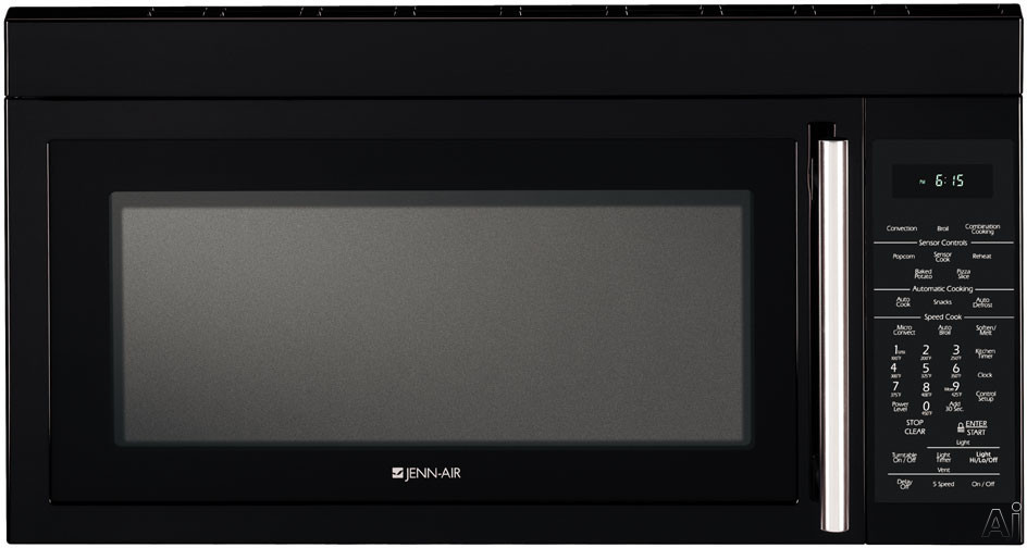 Jenn-Air JMV9169BA 1.6 Cu. Ft. Over-The-Range Microwave with 950 Watts of Power and Speed Cook Convection