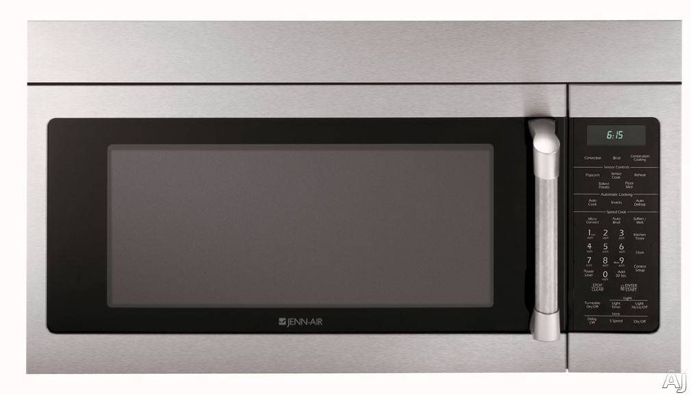 Jenn-Air JMV9169BAP 1.6 Cu. Ft. Over-The-Range Microwave with 950 Watts of Power and Speed Cook Convection: Stainless Steel