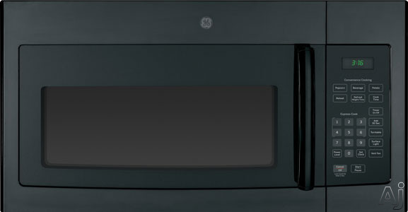 GE JNM3161DFBB 1.6 cu. ft. Over-the-Range Microwave Oven with 1,000 Cooking Watts, Auto and Time, U.S. & Canada JNM3161DFBB