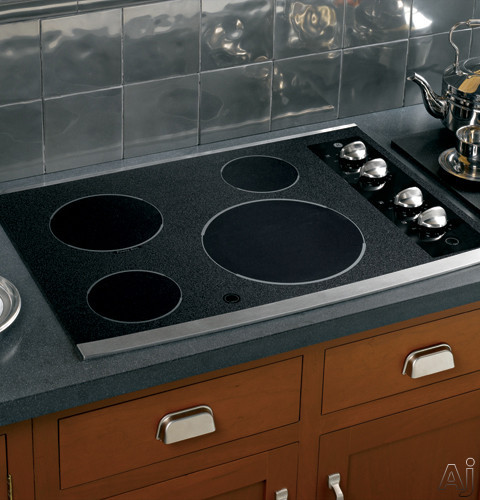 """GE JP346SMSS 30"""" Smoothtop Electric Cooktop With 4 Ribbon"""