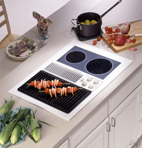 Ge Jp389wdww 30 Quot Dual Modular Electric Downdraft Cooktop