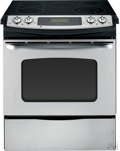 "GE JS630SFSS 30"" Slide-in Electric Range with 4.4 cu. ft. Oven Capacity, 4 Ribbon Elements, U.S. & Canada JS630SFSS"