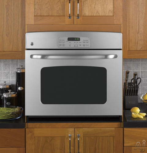 "GE JTP30DP 30"" Single Electric Wall Oven with 4.4 cu. ft. Self-Clean Oven, TrueTemp System, Hidden, U.S. & Canada JTP30DP"
