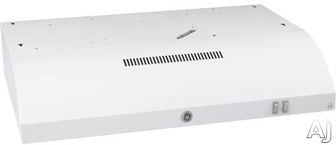 GE JVE40DTWW 30 Inch Under-Cabinet Range Hood with 200 CFM Internal Blower, 2 Fan Speeds, Cooktop Light, Mesh Filters, Convertible Venting and Energy Star Rating: White