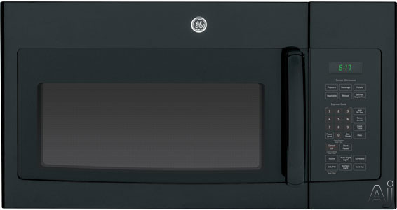 GE JVM6175DFBB 1.7 cu. ft. Over-the-Range Microwave Oven with 1,000 Cooking Watts, Sensor Cooking, U.S. & Canada JVM6175DFBB