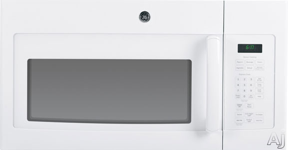 GE JVM6175DFWW 1.7 cu. ft. Over-the-Range Microwave Oven with 1,000 Cooking Watts, Sensor Cooking, U.S. & Canada JVM6175DFWW