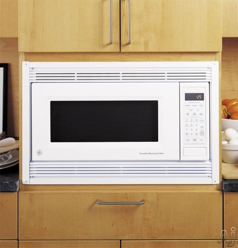 Ge jx827dfbb 27 deluxe built in trim kit black for Microwave ovens built in with trim kit