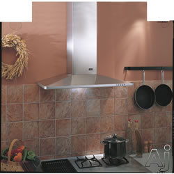 Best K3490CMSS 36 Inch Wall Mount Chimney Hood with 500 CFM Internal Blower, 3-Speed Push Button Control, 2 Halogen Lamps and Dishwasher Safe Mesh Filters: Stainless Steel