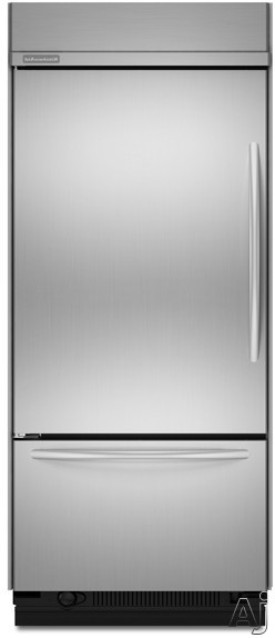 """KitchenAid Architect Series II KBLC36FTS 36"""" Built-In Bottom-Freezer Refrigerator with Glass-Touch, U.S. & Canada KBLC36FTS"""