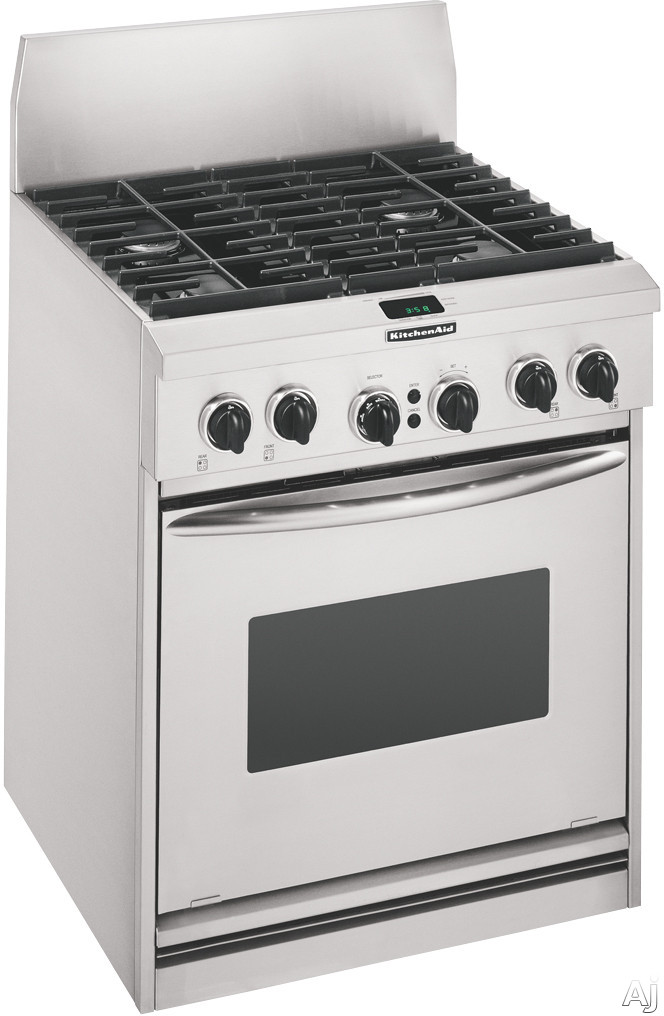 Kitchenaid kdrp407h 30 pro style dual fuel range with 4 15 000 btu burners full surface grates - Kitchenaid inch dual fuel range ...