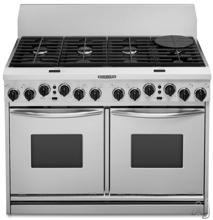 kitchenaid kdrp487mss 48 pro style dual fuel range with 6 15 000 2