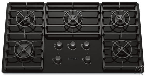 "KitchenAid Architect Series II KGCC566R 36"" Sealed Burner Gas Cooktop with Gas-on-Glass Cooktop, U.S. & Canada KGCC566R"