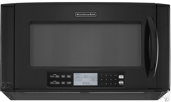 KitchenAid Architect Series II KHHC2090SBL 2.0 Cu. Ft. Over-the-Range Microwave Oven with 1,200 Cooking Watts, High-Speed & Convection Cooking and TruCapture Ve