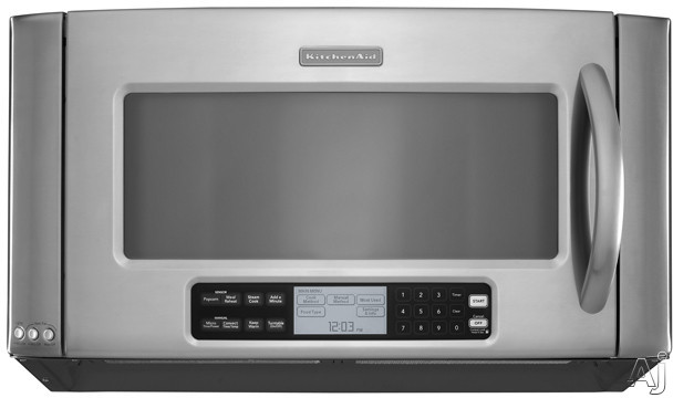 Kitchenaid Architect Series Ii Khhc2090s 2 0 Cu Ft Over The Range Microwave