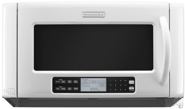 KitchenAid Architect Series II KHHC2090SWH 2.0 Cu. Ft. Over-the-Range Microwave Oven with 1,200 Cooking Watts, High-Speed & Convection Cooking and TruCapture Ve