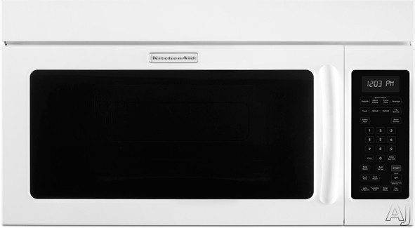KitchenAid KHMS2040BWH 2.0 cu. ft. Over-the-Range Microwave with 1000 Cooking Watts, 300 CFM Venting, U.S. & Canada KHMS2040BWH