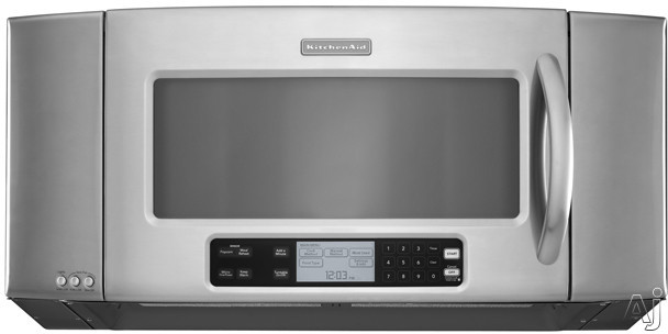 Kitchenaid Architect Series Ii Khms2056s 2 0 Cu Ft Over The Range Microwave Oven With 1 200 Cooking Watts 16 Turntable 10 Level Variable