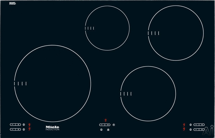 "Miele KM5753 30"" Induction Cooktop with 4 Cooking Zones, Booster Function, 9 Power Levels, Auto, U.S. & Canada KM5753"