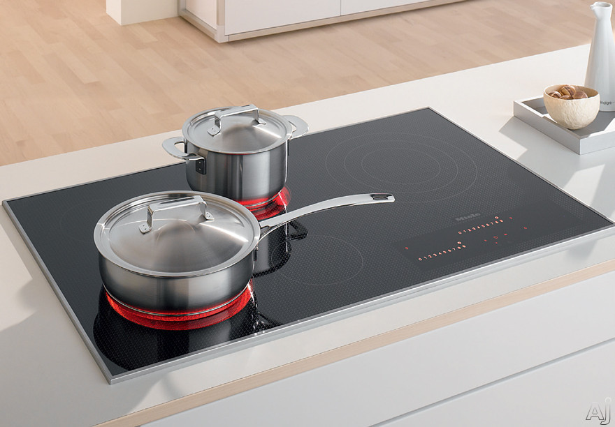 Miele KM5860208 36 Inch Electric Smoothtop Cooktop with 5 Cooking Zones, Direct Selection Plus Touch Controls, Residual Heat Indicators and 3D Glass Design: 208 Volts