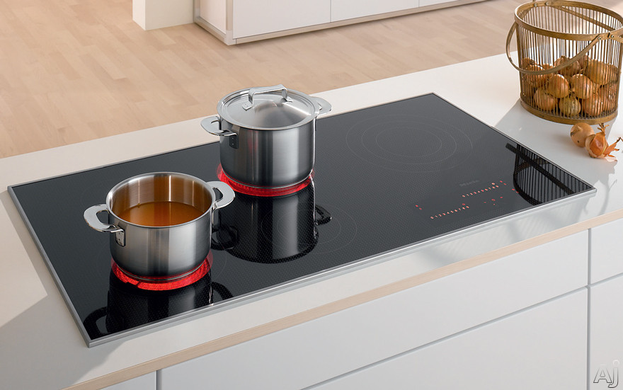 Miele KM5880208 42 Inch Electric Smoothtop Cooktop with 5 Cooking Zones, Direct Selection Plus Touch Controls, Residual Heat Indicators and 3D Glass Design: 208 Volts