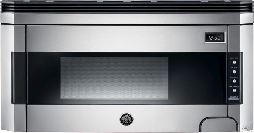 Bertazzoni Design Series KO30PROX 15 cu ft Over the Range Microwave Oven with 300 CFM Venting System 1 000 Cooking Watts 10 Power Levels Sensor Reheat and Convertible to Recirculating