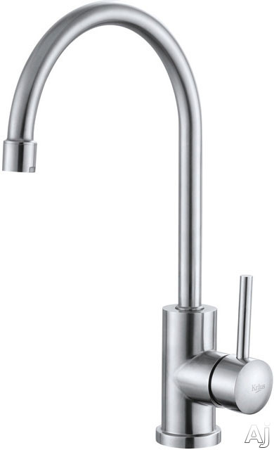 Kraus Kitchen Faucet Series KPF2160 Single Lever Stainless Steel Cast Spout Kitchen Faucet with 7-1/2 Inch Reach, 1.8 GPM Water Flow, Discoloration/Corrosion Resistant and ADA Compliant KPF2160