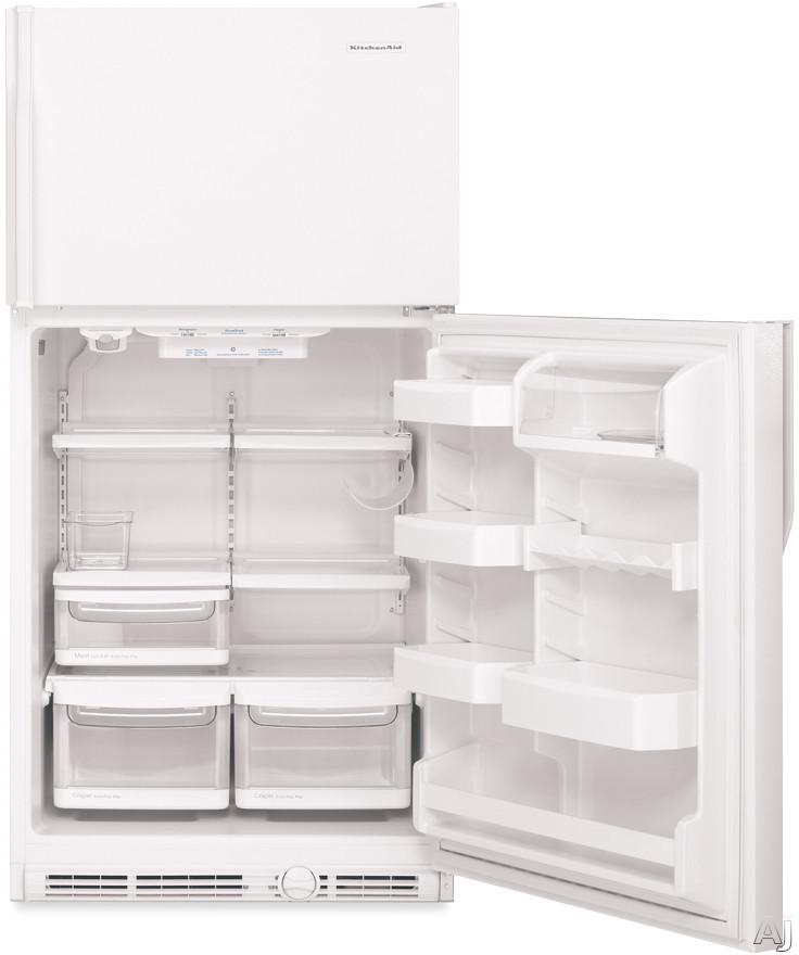 Kitchenaid Ktrs22embl 21 5 Cu Ft Freezer On The Top