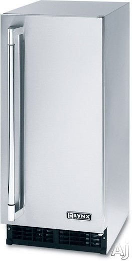Lynx L15ICE 15 Inch Outdoor Ice Machine with 27 lb. Ice Capacity, 55 lb. Clear Ice Production per Day and Stainless Steel Exterior