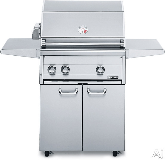 Lynx Professional Grill Series L27FR2 52 Inch Freestanding Gas Grill with 685 sq. in. Cooking Surface, Two 25,000 BTU Red Brass Burners, Hot Surface Ignition System, Blue LED Control Illumination, Hood Assist Kit and Dual-Position Internal Rotisserie L27