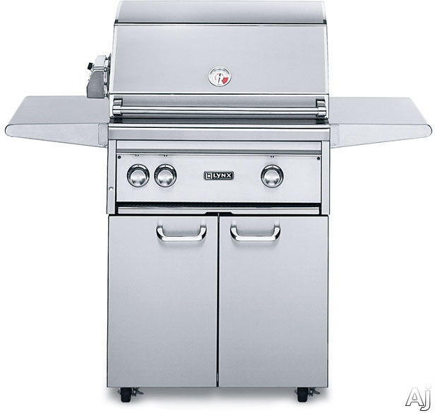 """Lynx Professional Grill Series L27PSFR3 27"""" Freestanding Gas Grill with 685 sq. in. Cooking Surface, 50,000 Total BTUs, ProSear2 Burner, Rotisserie, Rear Infrared Burner and Halogen Surface Lighting"""