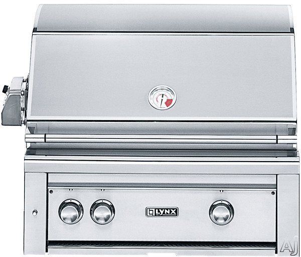 Lynx Professional Grill Series L30ASR 30 Inch Built-in Gas Grill with All ProSear2 Burners, 840 sq. in. Cooking Surface, 50,000 Total BTUs, Rear Infrared Burner, Rotisserie and Smoker Box
