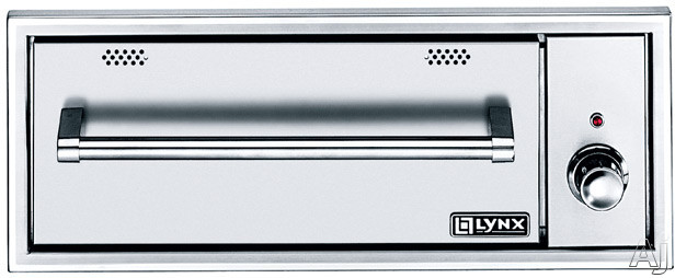 "Lynx L30WD1 30 Inch Outdoor Warming Drawer with 2 Removable Steam Pans, Moist/Crisp Settings, """"On"""" Indicator Light, Concealed Heating Element and Weather Resistant Stainless Steel Construction"" L30WD1"