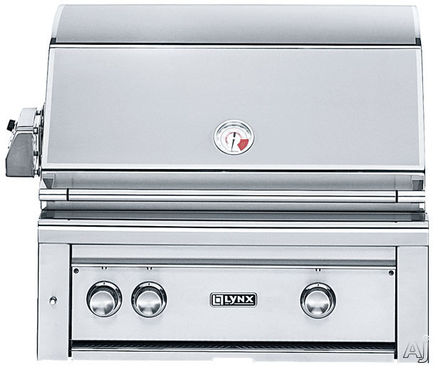 Lynx Professional Grill Series L30PSR2LP 30 Inch Built-in Gas Grill with 840 sq. in. Cooking Surface, ProSear2 Burner, Red Brass Burner, 3-Speed Rotisserie and Hot Surface Ignition: Liquid Propane