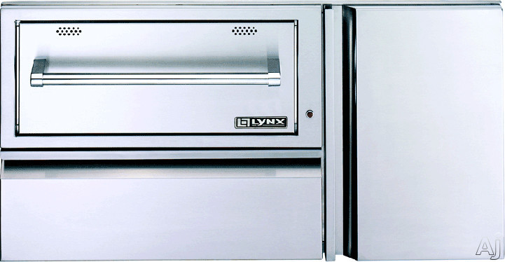 Image of Lynx L42CC1 42 Inch Convenience Center with Warming Drawer, Utility Drawer and LP Tank Storage Cabinet