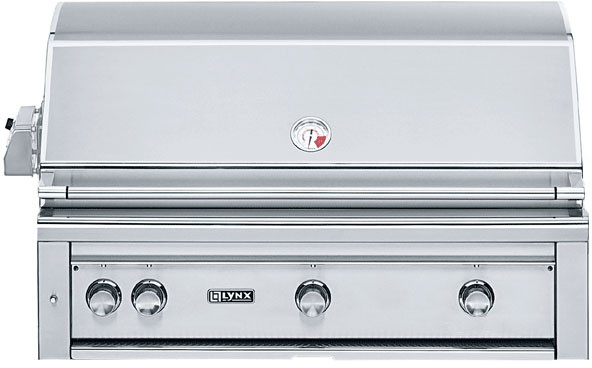 "Lynx L42ASR 42"" Built-in Gas Grill with All ProSear2 Burners, 12000 sq. in. Cooking Surface, 70,000 Total BTUs, Electronic Ignition, Smoker Box and Halogen Lighting"