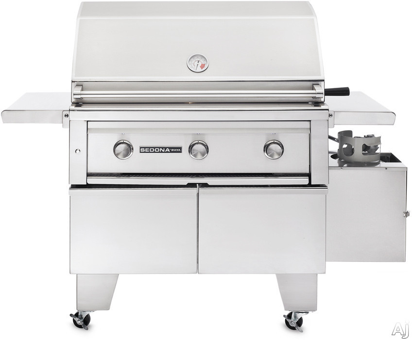 Lynx Sedona Series L600ADANG 56 Inch Freestanding Gas Grill with 733 sq. in. Cooking Surface, 69,000 Total BTUs, ProSear Burner, Lynx Hood Assist Kit, ADA Compliant and Halogen Surface Lighting: Natural Gas